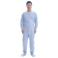 cow costume winter polar fleece light blue plain colour adult onesie