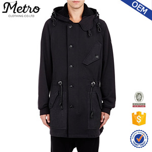 2015 OEM Wholesale Custom Men Hooded French Terry Parka For Men
