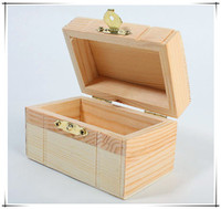 Wholesale Unfinished Hand Craft Cheap Very Small Wooden Boxes with Lid