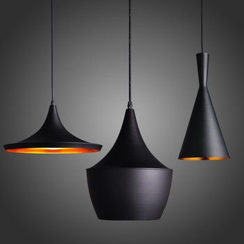 Contemporary Black Suspended Light Fixtures Round Minimalist Modern Cool Design Decorations