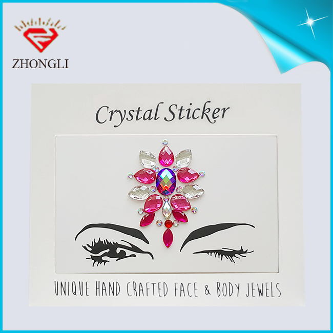 High quality in the face of crystal jewelry magic stone rhinestone eyes eyeliner tattoo stickers
