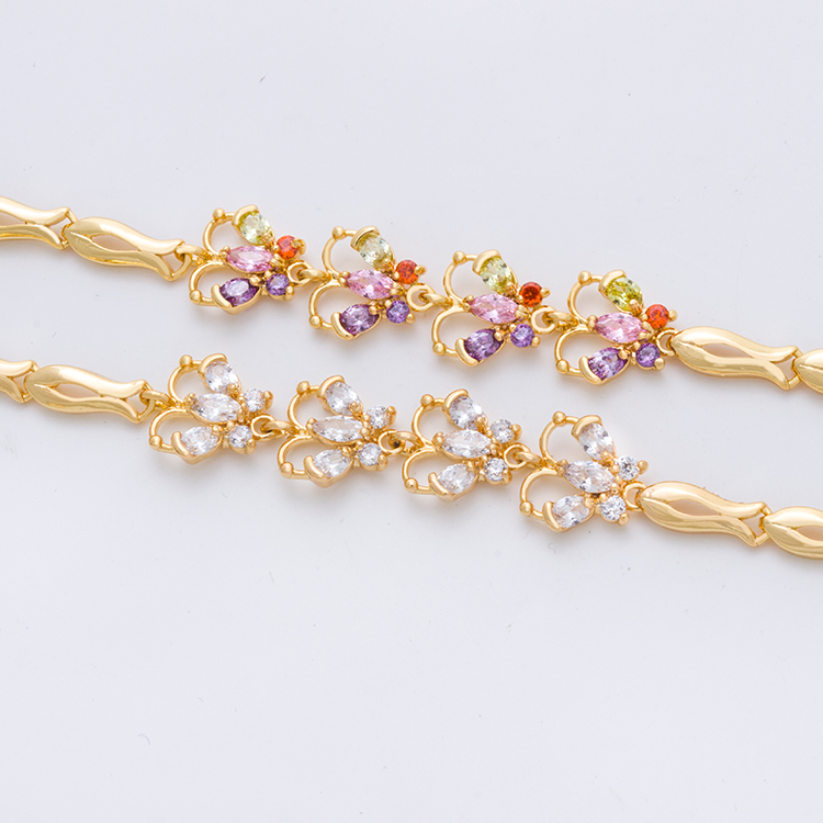 Women Rose Gold Plating Tanishq New Gold Bracelet Designs, View ...