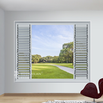 Rogenilan 145#aluminium Angel Fixed Sun Shutters Outdoor Sun Shade Louver  Window   Buy Sun Shade Louver Window,Australian Standard Window,Sound ...