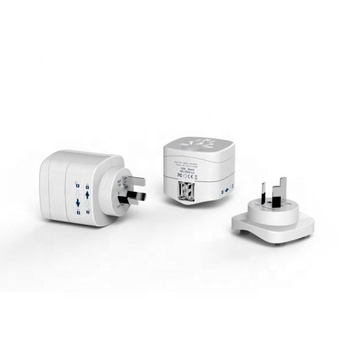 Europe to China/Australia Travel Adaptor - Dual USB Charger 5v 2.1A
