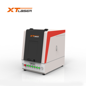 cnc fiber laser marking machine 20w with rotation axis