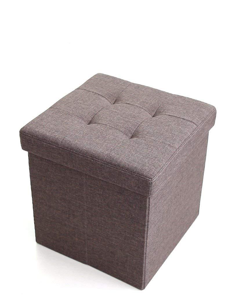 ZHANGRONG- Multifunctional Fabric Folding Storage Stool Storage Box Sofa Stool Can Take People Storage Box Square Sofa For Shoes Stool Sofa Stool (Color Optional) (Color : C)