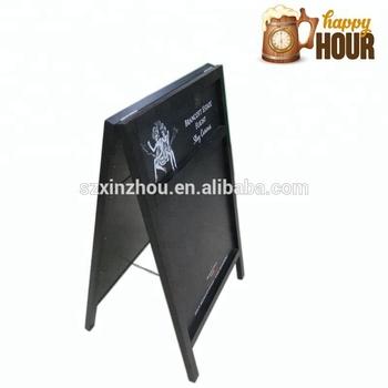 A Frame Sidewalk Sign Wooden Menu Chalkboard With Wood Frame - Buy ...