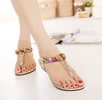 D71840h Para Nueva Los Mujeres 2016 Mujer sandalias Zapatos Mujer Planos Sandalias De Moda Buy Las Pies f7Yb6yg