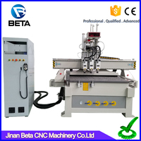 Large demand ! Easy atc automatic tool change spindle cnc 3 axis router with vacuum pump