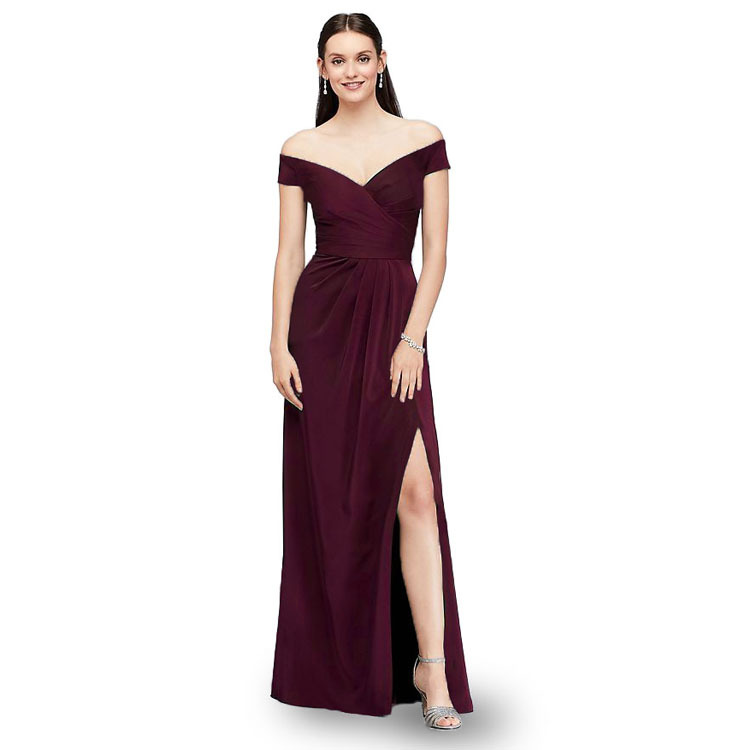 <strong>Silk</strong> Off shoulder evening party <strong>dresses</strong> sexy jag long maxi <strong>dress</strong> hot