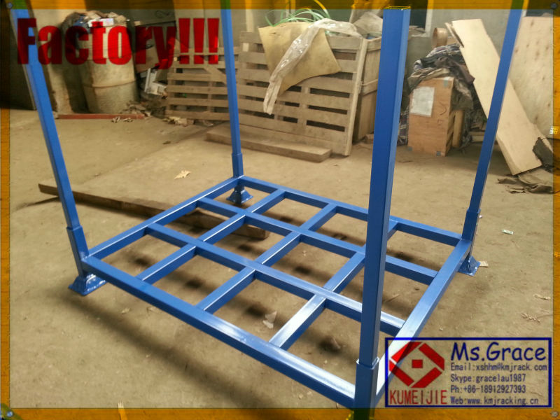 Heavy duty portable warehouse storage rack system removable post