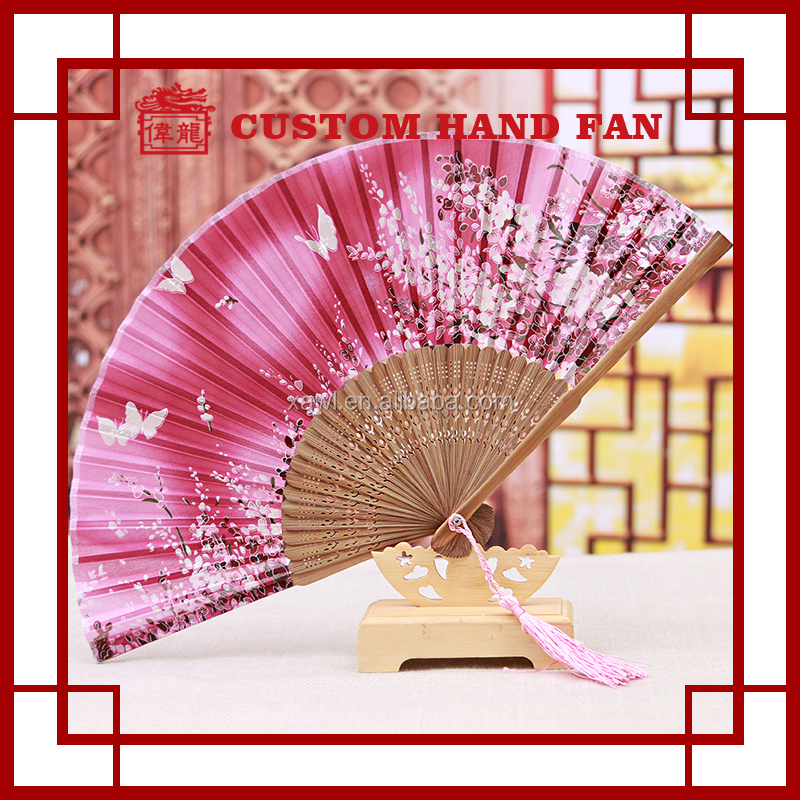 wedding Giveaway Silk Bamboo Folding Hand Held Fans For GYS803-61