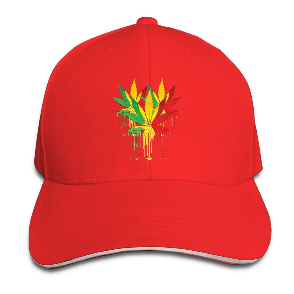 255845ce977 Get Quotations · Unisex Adjustable Plain Hat Weed Leaf Art Sporting  Baseball Cap Outdoor Snapback Hat