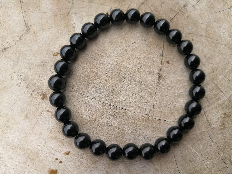 6 mm,Black Tourmaline Bracelet,tourmaline bracelet,Healing Stones For Protection,Chakra Bracelet,Yoga Jewelry, - size 6.5,7,7.5,8,8.5 inches