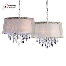 Modern Fabric Crystal Chandelier Pendant Light CE Approvel Decorative Lighting
