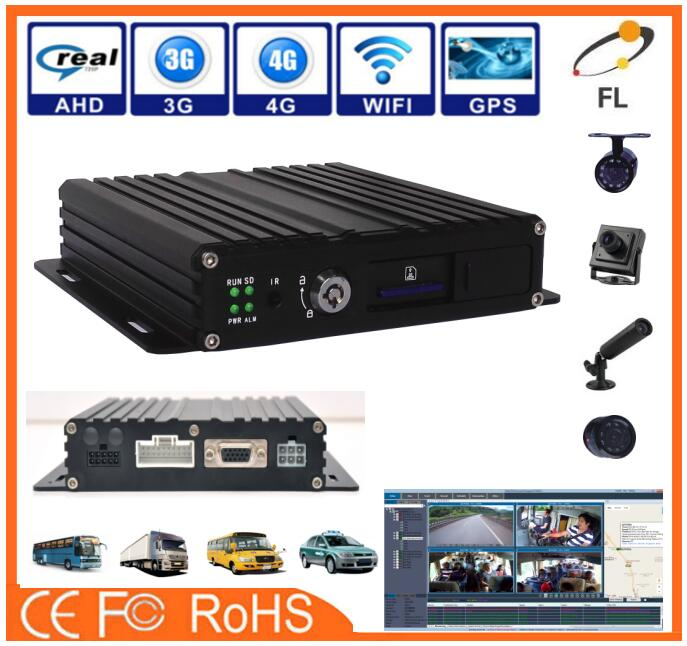 Top Quality 3G Mobile Car DVR with 720P IP camera MDVR 4ch 8ch optional
