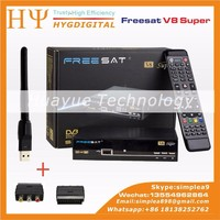 New Freesat DVB-S2 V8 Super with scart 1080p digital satellite receiver V8 Super decoder free to air set top box