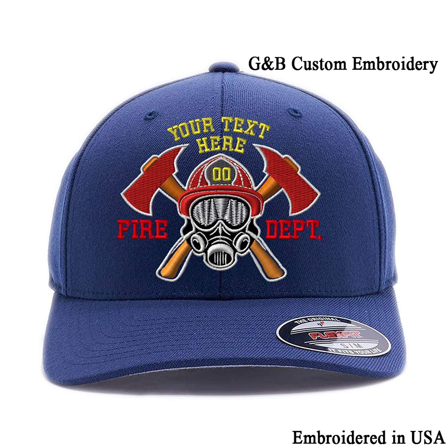 Get Quotations · Custom Embroidered Firefighter Hats. 6477 ad5f9150b246
