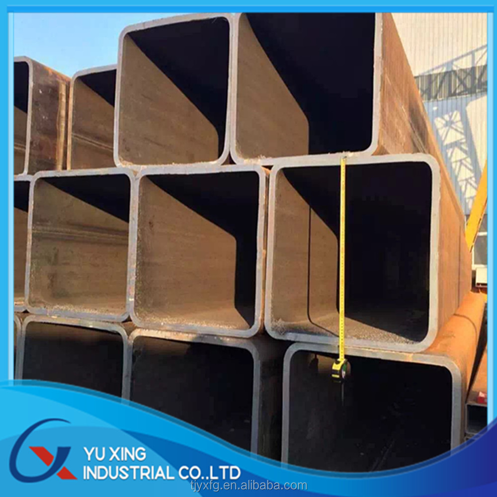 Q235B Q345B high quality large diameter square steel tube made by Tianjin Yu Xing factory ISO certification