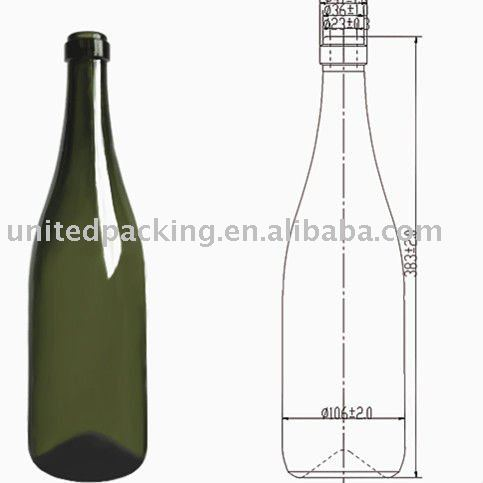1.5L große Champagne Glasflasche