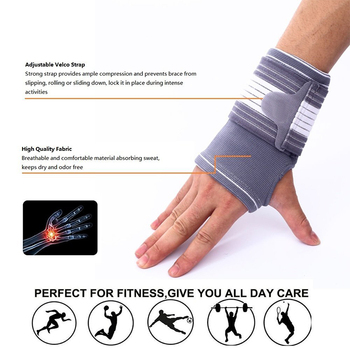 palm support wrist brace orthopedic support stabilizer wristbands with Adjustable Elastic Bandage Wraps gym