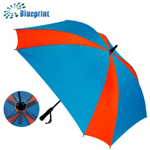 New Creative Long Handle golf shaft chinese sun umbrella with fan