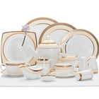 Chaozhou Factory Gold Porcelain Ceramic Dinnerware Set Fine Bone China, Bone China Crockery~