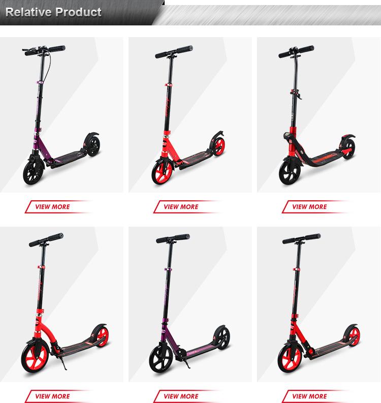 Nuovo Design Per Adulti Scooter Con Freno A Mano In Alluminio Pieghevole Calcio Skateboard Grandi Ruote di Scooter