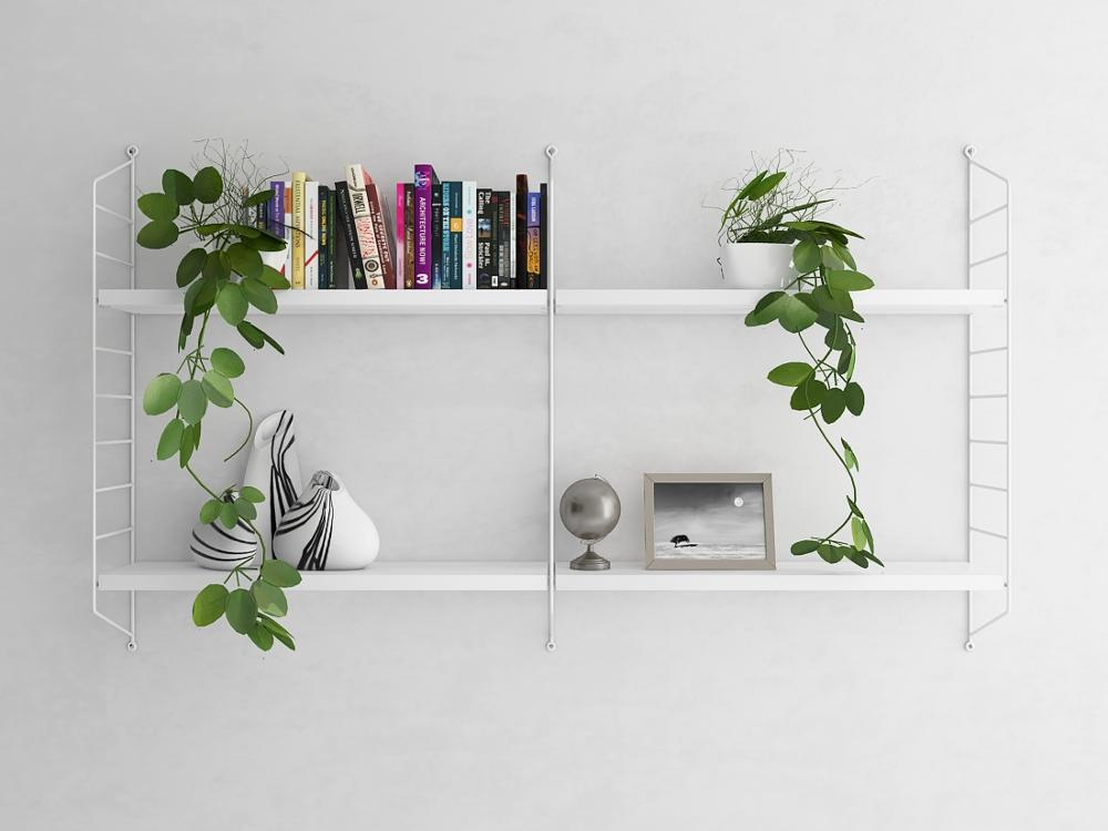 DIY bedroom corner wall shelves black wall bookshelf