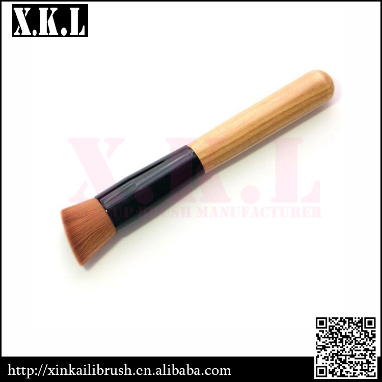 Eco-Friendly Wooden Handle For Makeup Powder Brush Foundation Brush
