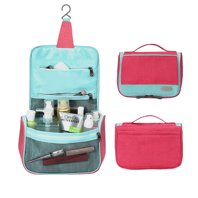 Ginzeal Promotional Portable Waterproof Makeup Bag Case Travel Hanging Toiletry Bag