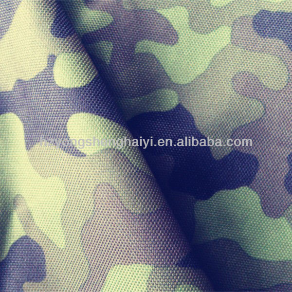 600D polyester oxford camouflage fabric bag tent material