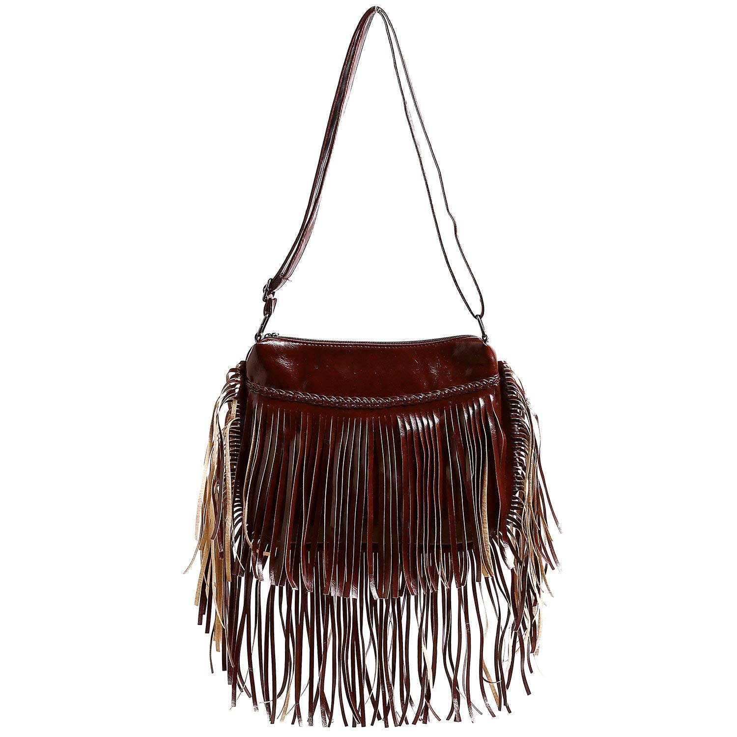 eb6c13153771 Get Quotations · BEKILOLE Fringe Purse Fashion Women Leather Shoulder Bag  Waterproof Crossbody Purse Travel Messenger Bag Fringe Bag