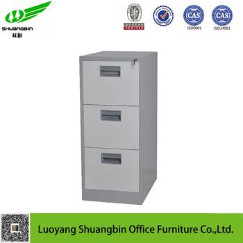 New Design High Quality 3 Drawer Steel Filing Cabinet Drawer Stopper