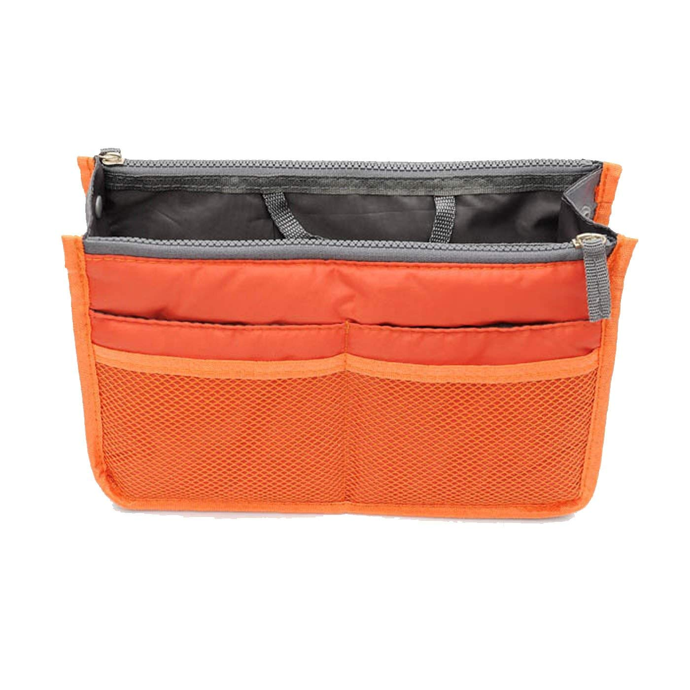 Handbag Purse Organizer Insert Liner Bag in Bag with Handles 13 Pockets