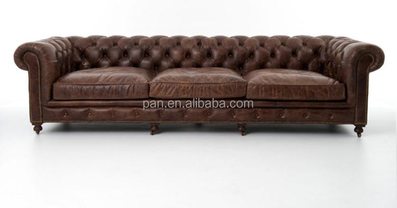 Vintage stijl Sigaar Club lederen sofa woonkamer meubels goedkope ...