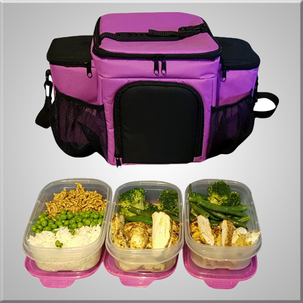 Undeniable Meal Prep Bag With Portion Control Container Set Reusable Ice Pack For Bodybuilding Fitness