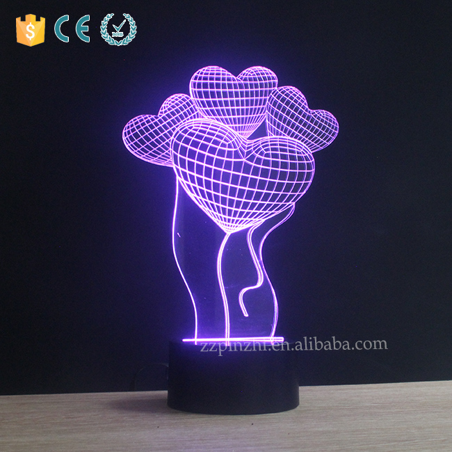 Power saving 3d deco babies night light factory price