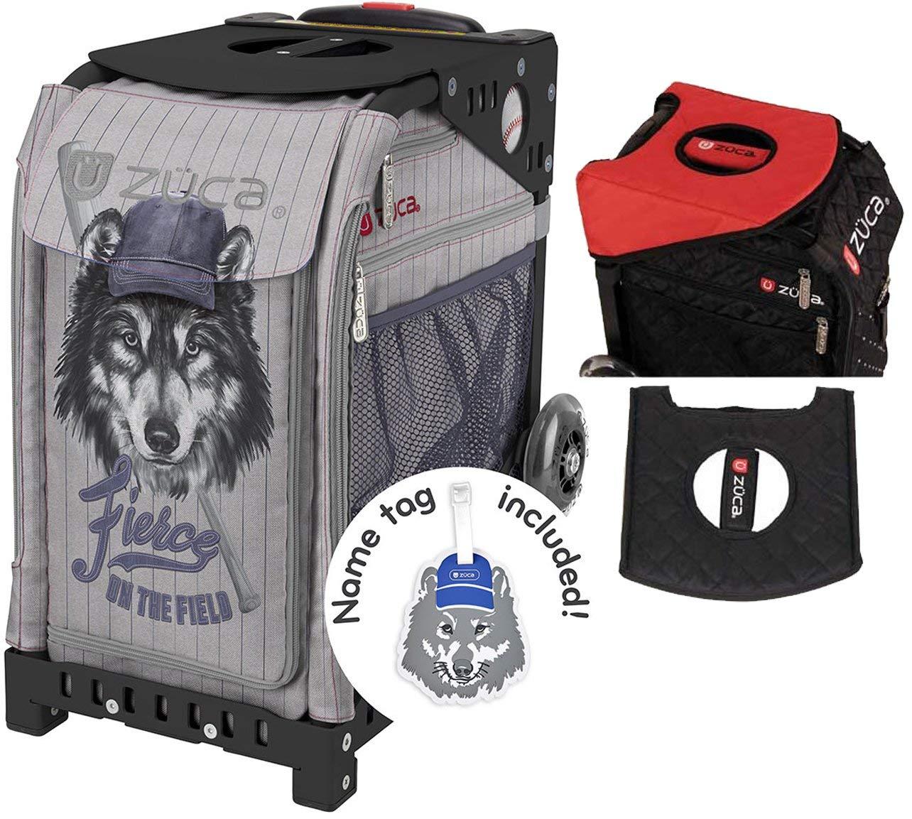 ZUCA Fierce On The Field Sport Insert Bag & Black Frame + Gift Seat Cushion