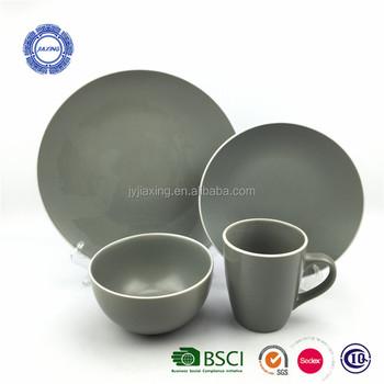 Geschirr Aus Steinzeug Mit Fester Glasur 16 Tlg Keramikbesteck Mit