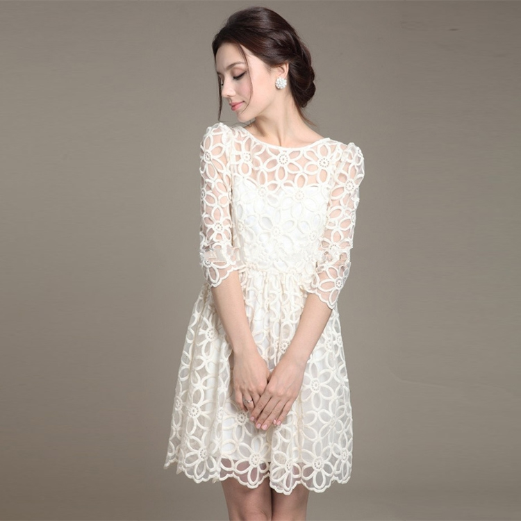 Spring Fashion Lace Casual Dress Summer