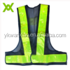 black triangular mesh fabric road guiding reflective vest