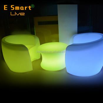 Modern Outdoor Furniture Plastic Led Sofa Decoration