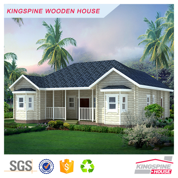 Charming Prefabricated Bungalow Log House Wooden House India Price Made In China