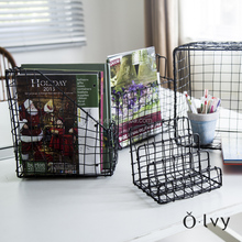 grey weavy wire function office basket