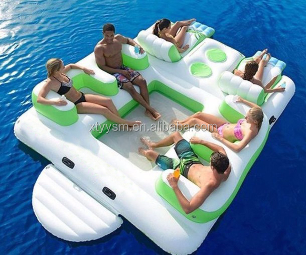 Giant 6 person inflatable floating island for sale