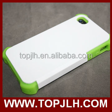 2017 tpu + pc 2 in 1 blank case 3d sublimation case for Iphone 4/4s