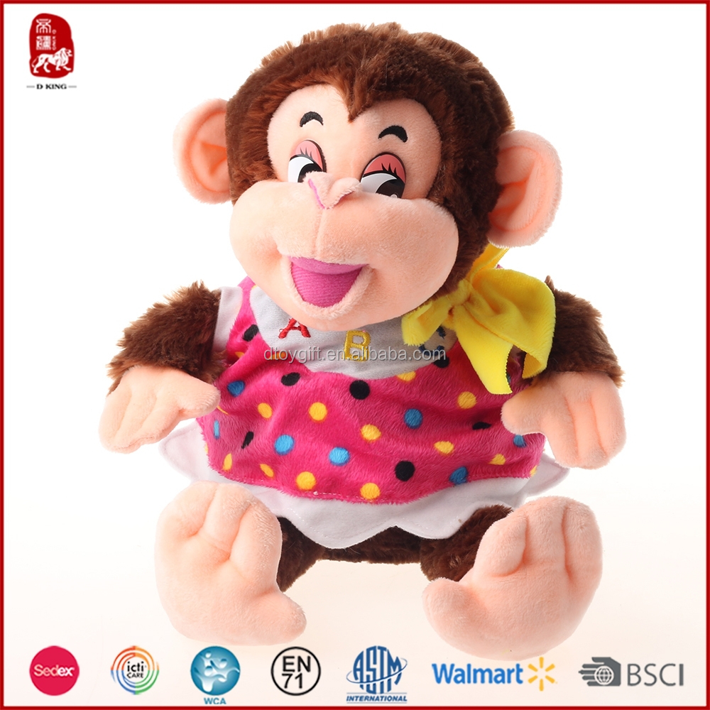 2015 new products colorful plush monkey girls toy