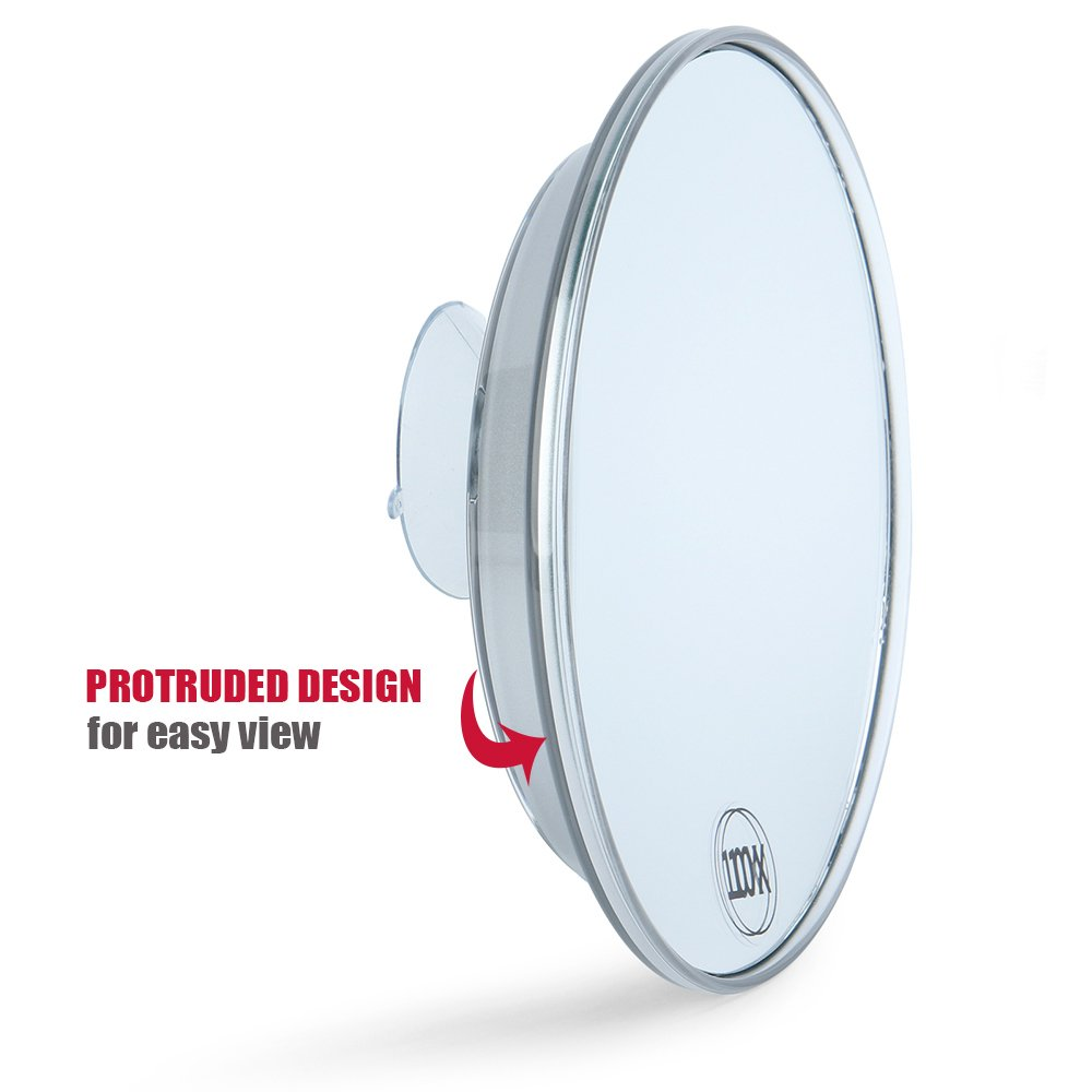 Get Quotations Catmicoo 10x Magnifying Mirror With 3 Large Suction Cups 6 Round Portable Cosmetic Make