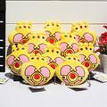 10pcs lot Anime Sailor Moon Crown Plush Pendants Stuffed Doll Soft Toys With Ring 4 10cm